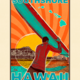 Aloha Posters SOUTH SHORE  8X10 MATTED PRINT
