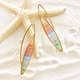Foterra Jewelry OH TO BE WHERE THE SKY MEETS THE SEA-EARRINGS-GOLD/LONG EARWIRE