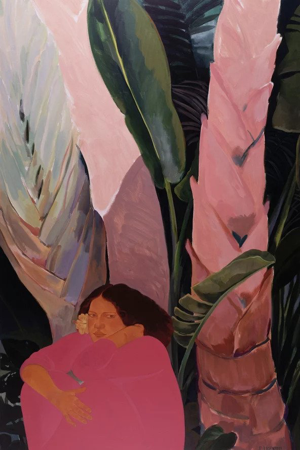 """Pegge Hopper OKAPAKA, CANVAS GICLEE GALLERY WRAP (26.3""""X40""""), SIGNED, LIMITED EDITION 112/195"""