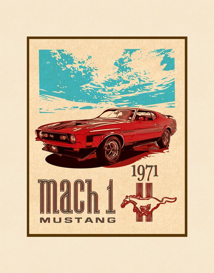 Aloha Posters MACH 1 11X14 MATTED PRINT