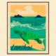 Aloha Posters LANIKAI HONU  11X14 MATTED PRINT