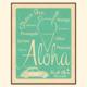 Aloha Posters ALOHA SHAVE ICE- TEAL, 11X14 MATTED PRINT