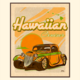 Aloha Posters HAWAIIAN CRUISER, 11X14 MATTED PRINT