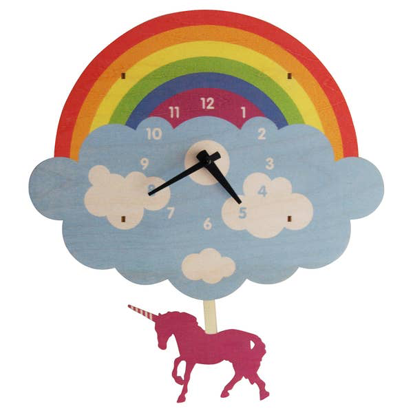 Modern Moose UNICORN PENDULUM CLOCK