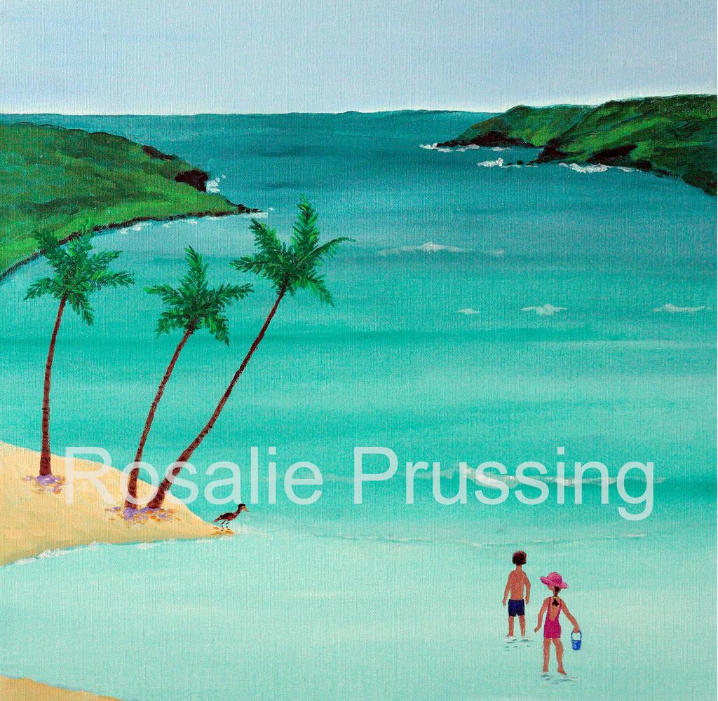 Rosalie Prussing SM PRINT: WATER'S EDGE - HANAUMA BAY 446/750