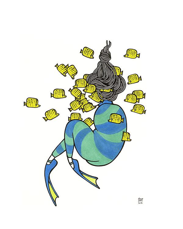 "Kris Goto One, 11""x14"" Matted Art Print"