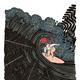 "Kris Goto Umbrella Squeeze, 11""x14"" Matted Art Print"