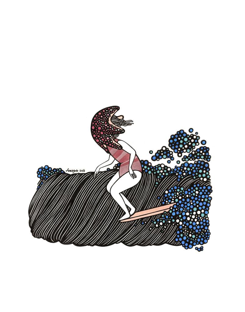 "Kris Goto Starfish, 11""x14"" Matted Art Print"