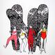 "Kris Goto Pose, 11""x14"" Matted Art Print"