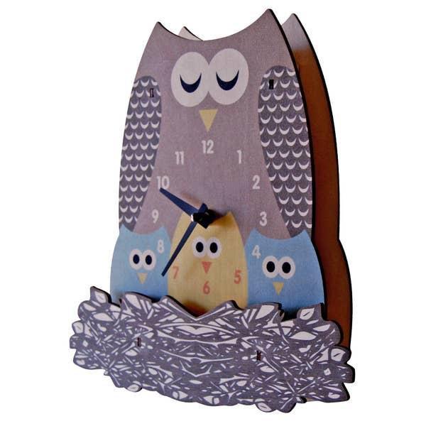 Modern Moose NEST OWL BASIC CLOCK