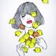 """Kris Goto Fishies, 11""""x14"""" Matted Art Print"""