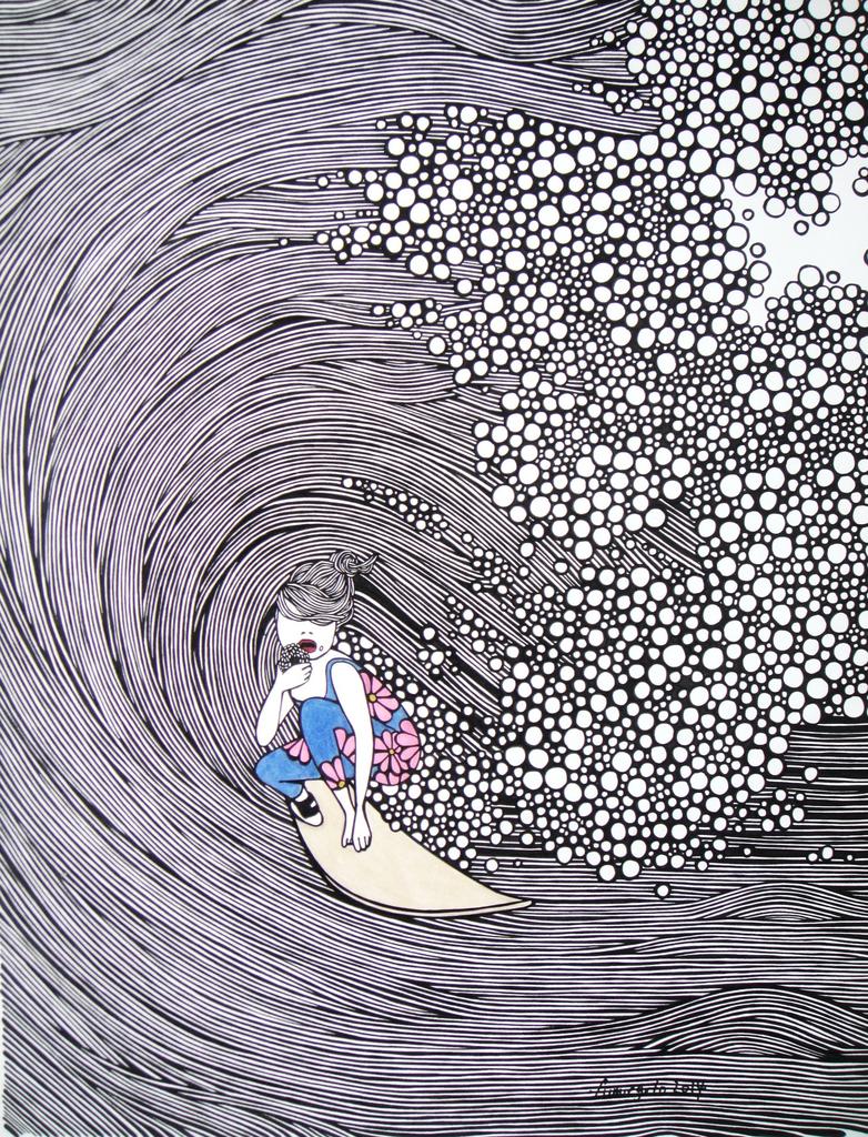 """Kris Goto Barrel, 11""""x14"""" Matted Art Print"""