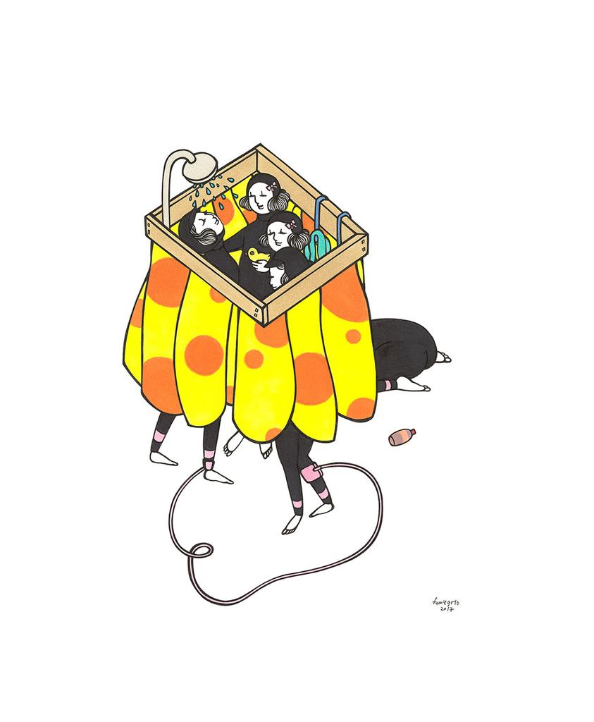 "Kris Goto Post Sesh, 11""x14"" Matted Art Print"
