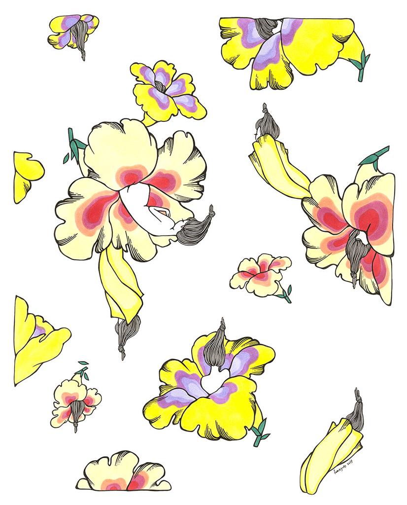 "Kris Goto Cycle, 11""x14"" Matted Art Print"