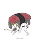 "Kris Goto Spam Buddy, 11""x14"" Matted Art Print"