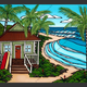"""Heather Brown HAWAII BUNGALOW, 24""""X30"""" GALLERY WRAP GICLEE ON CANVAS, LIMITED EDITION #64/250, SO11087"""