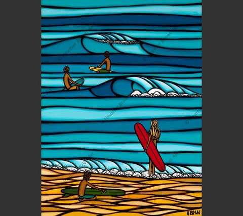 """Heather Brown OHANA SURF, 18""""X24"""" GALLERY WRAP GICLEE ON CANVAS, LIMITED EDITION  #29/100, SO16125"""
