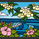 """Heather Brown HAWAIIAN FLOWERS, 16""""X20"""" OPEN EDITION GALLERY WRAP GICLEE ON CANVAS, SO16125"""