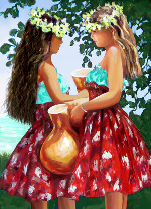 """Carol Collette Talk Story, 11""""x14"""" Gallery Wrap Giclee on Canvas"""