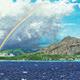 "Carol Collette Diamond Head & Waikiki, 7""x14"" Gallery Wrap Giclee on Canvas"