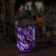 Brad Smith Studios HANDBLOWN GLASS WINE GLASS: AMETHYST MIX