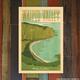 Nick Kuchar 12X18 RETRO TRAVEL PRINT: WAIPIO VALLEY BIG ISLAND