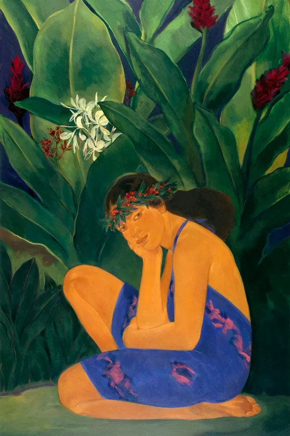 """Pegge Hopper YELLOW GINGER (MELE KALIKIMAKA '89) ED. #75/195 (26.3 x 40"""")"""