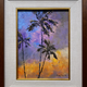 """Ed Furuike OF SUNSETS AND RED-TAIL TROPIC BIRDS, 9""""X12"""" ORIGINAL PALETTE KNIFE OIL PAINTING"""