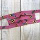 Elizabeth Kent HANDMADE FACE MASK: PINK & PLAYFUL KIMONO FABRIC