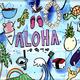 Welzie Art ALOHA COLLAGE, 11X14, PAPER PRINT W/RESIN COATING, BAMBOO WOOD PANEL, SO25138
