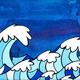 Welzie Art DEEP OCEAN, 11X14, PAPER PRINT W/RESIN COATING, BAMBOO WOOD PANEL, SO25138