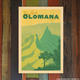 Nick Kuchar 12X18 RETRO HAWAII TRAVEL PRINT: OLOMANA