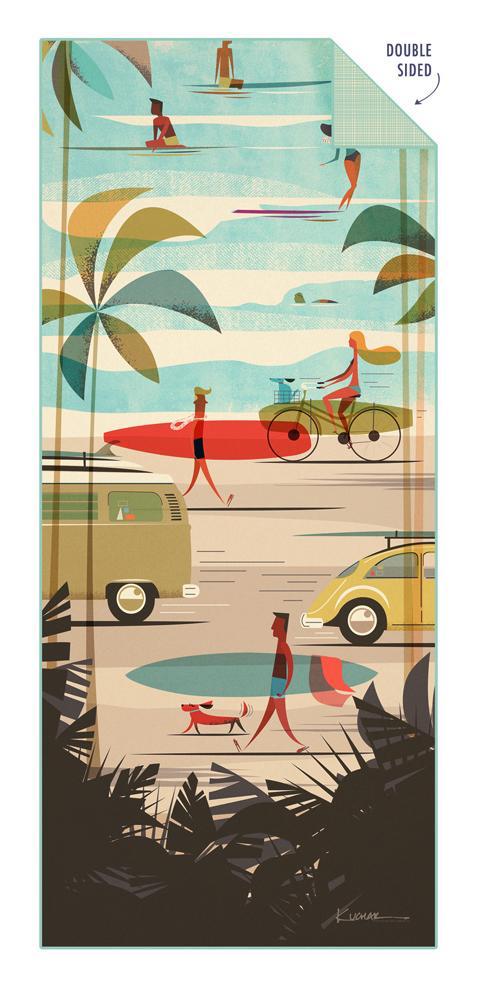 Shinn Studio SURFER TOWEL: KAMAAINA