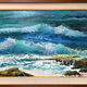 "Ed Furuike BY THE SHORES OF MAKAPU'U, 30""X20"" ORIGINAL PALETTE KNIFE OIL PAINTING"