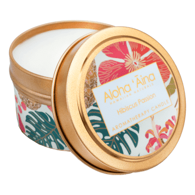 Maui Soap Company HIBISCUS PASSION CANDLE TIN