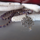 """MiNei Designs #2133 18"""" Faceted Amethyst Beads with Silver Tree of Life Charm"""