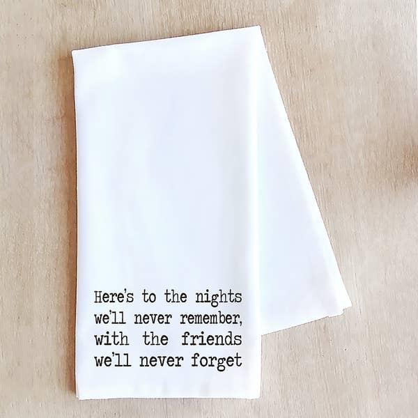 Devenie Designs HERE'S TO THE NIGHTS-TEA TOWEL