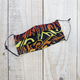 Pouch Em Hawaii HANDMADE FACE MASK: ORANGE, YELLOW, RED TRIBAL