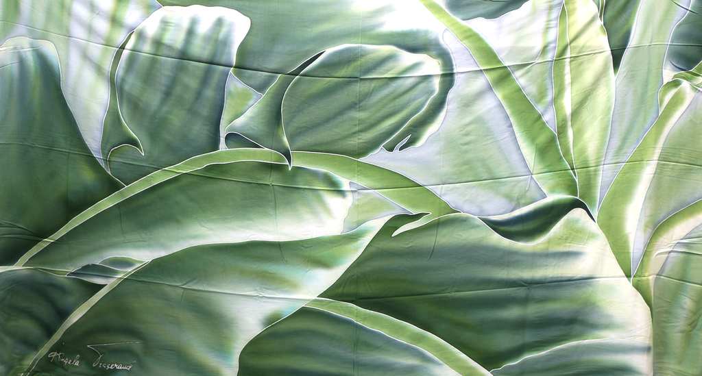 Angela Tisseraud BANANA LEAF GREEN: HAND PAINTED PAREO