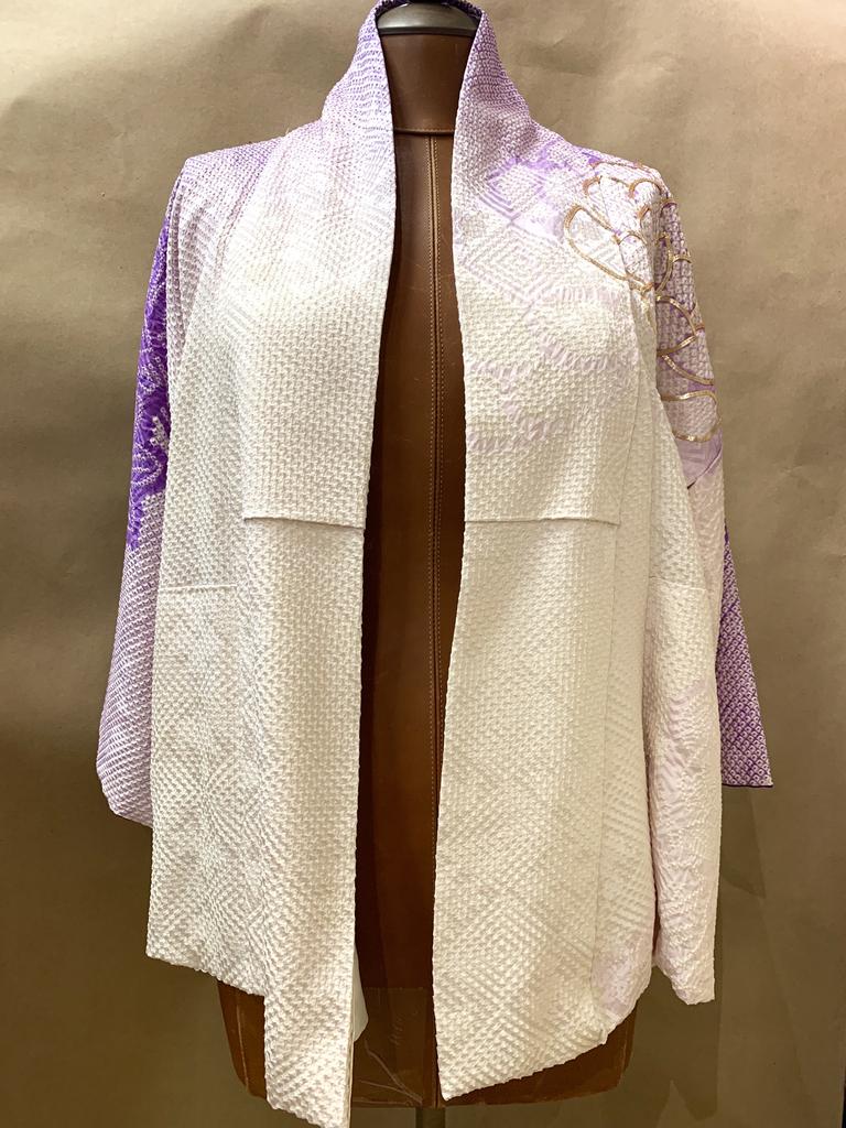 Elizabeth Kent Amethyst Ombre Shibori Jacket