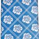 Pineapple Palaka Hibiscus/Blue Modern Necktie
