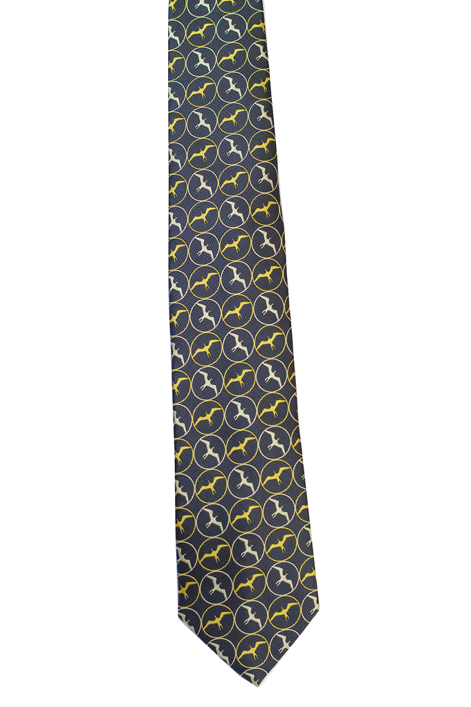 Pineapple Palaka Iwa Black/Gold Modern Necktie