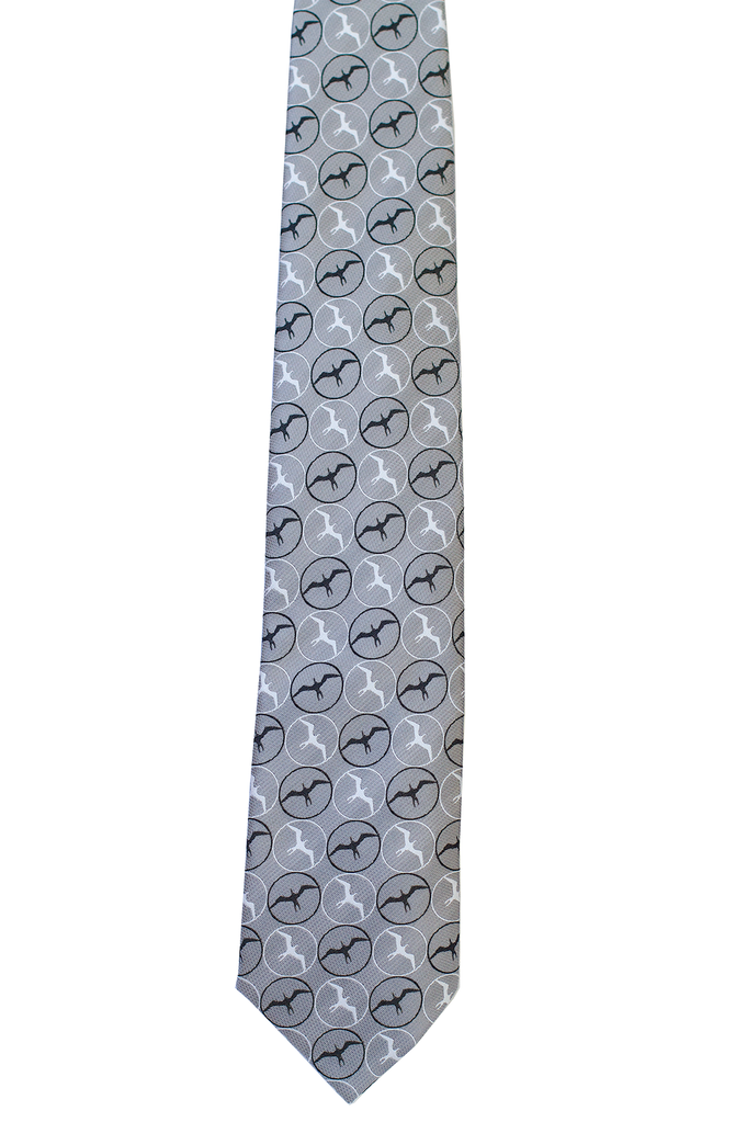Pineapple Palaka Iwa Black/White Modern Necktie