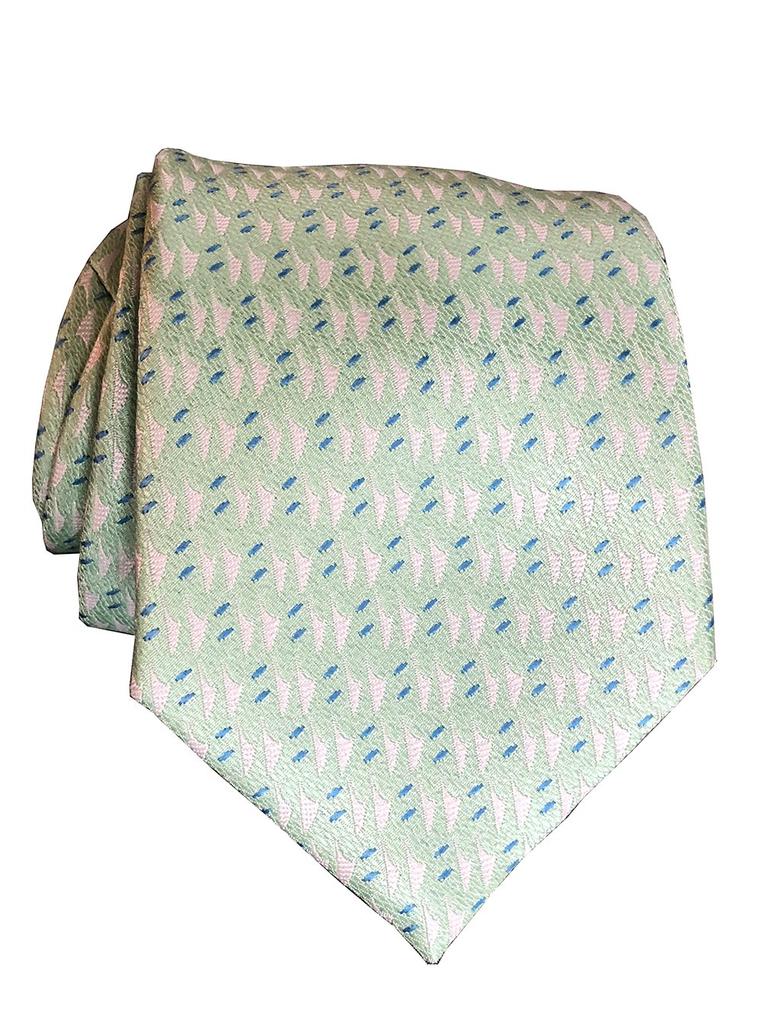 Pineapple Palaka Hawaiian Voyage: Mint Modern Necktie