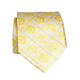 Pineapple Palaka Hibiscus/Yellow: Modern Silk Necktie