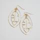 Lehualani EARRINGS: BANANA LEAF HOOPS (GOLD FILL)