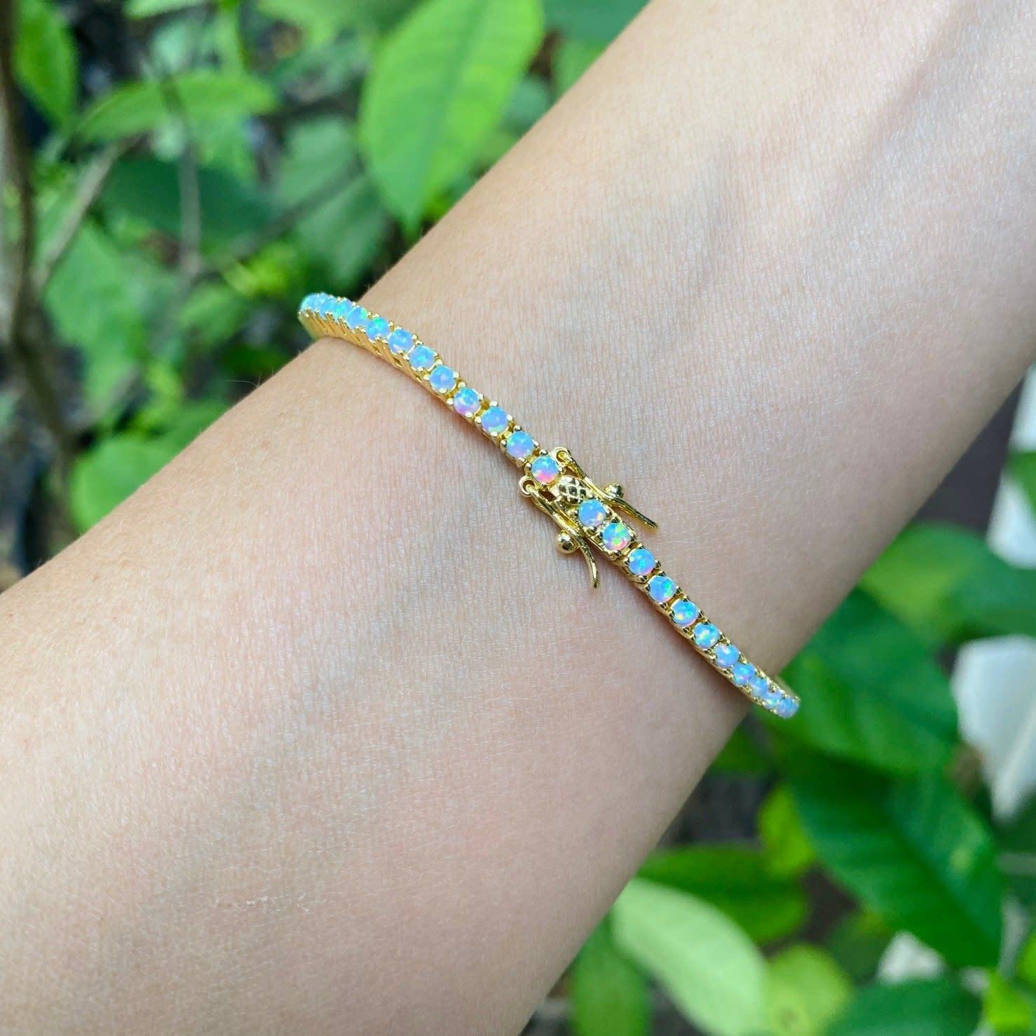 Misha Lam Opal Tennis bracelet 14kt Vermeil