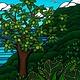 Heather Brown Ulu Tree, 11x14 OE, Matted Sugarcane Fine Art Print (M)
