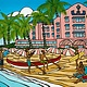 Heather Brown Royal Hawaiian, 11X14 OE, Matted Sugarcane Fine Art Print (M)