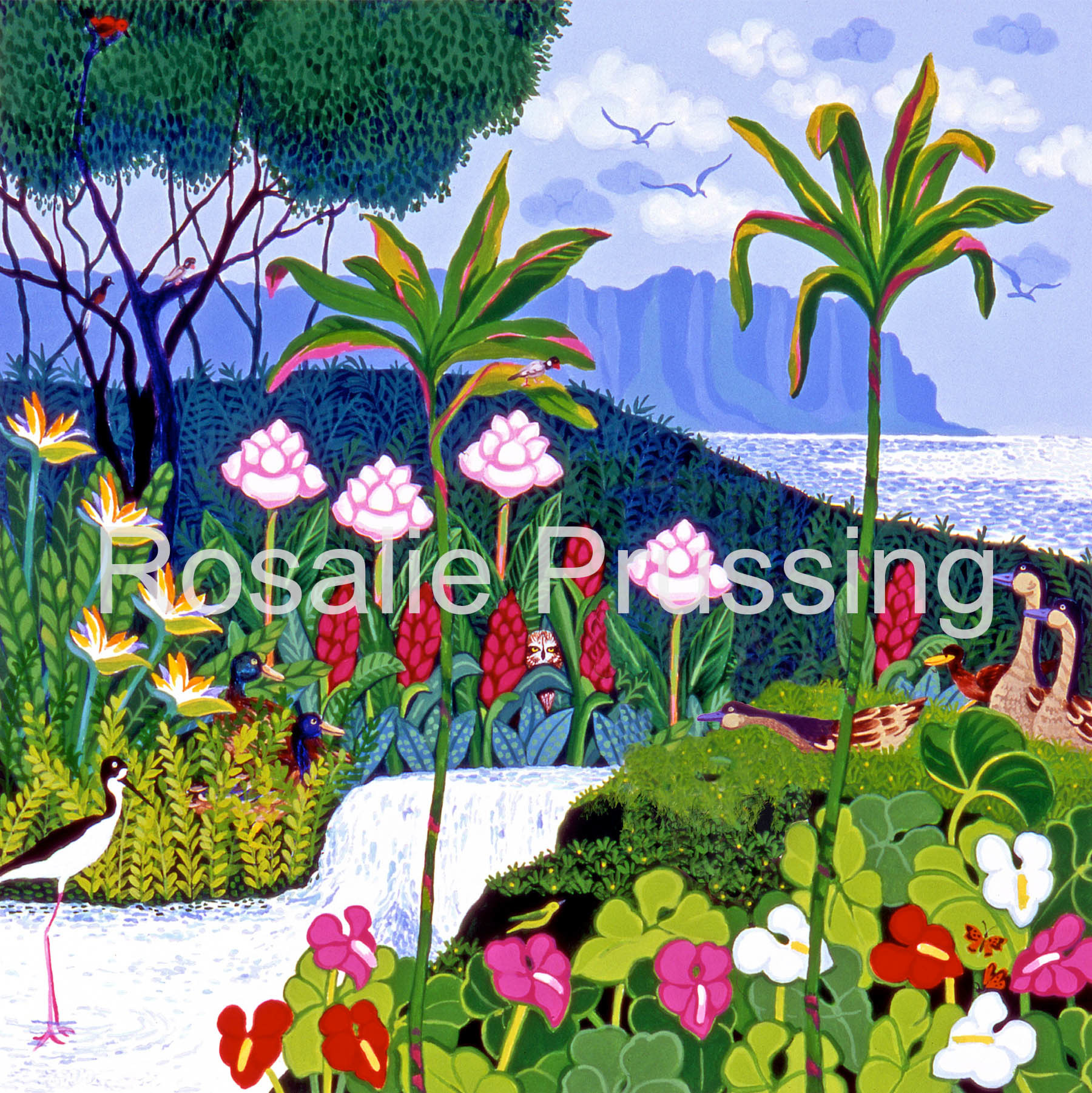 Rosalie Prussing SMALL PRINT: PEACEFUL PARADISE #240